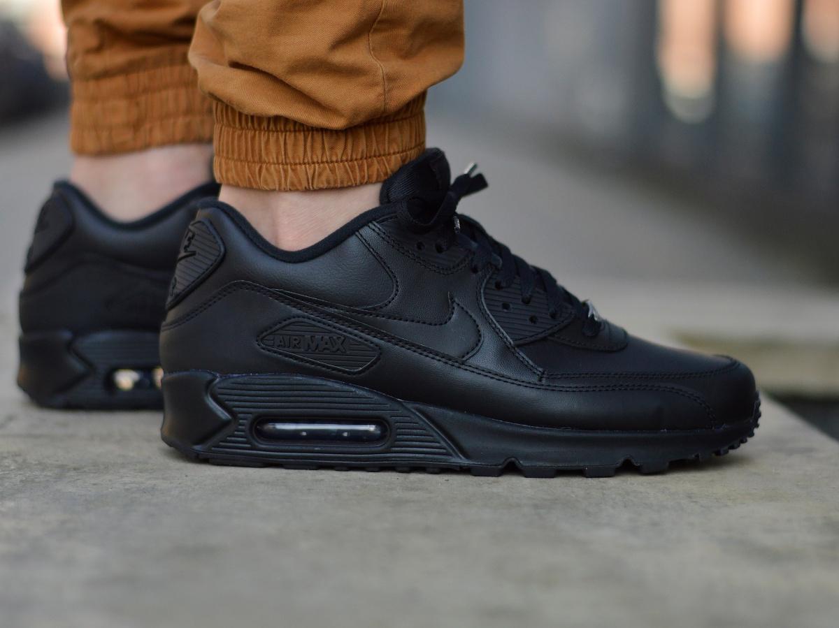 88644865de1 Nike Air Max 90 Leather 302519-001 Men s Sneakers