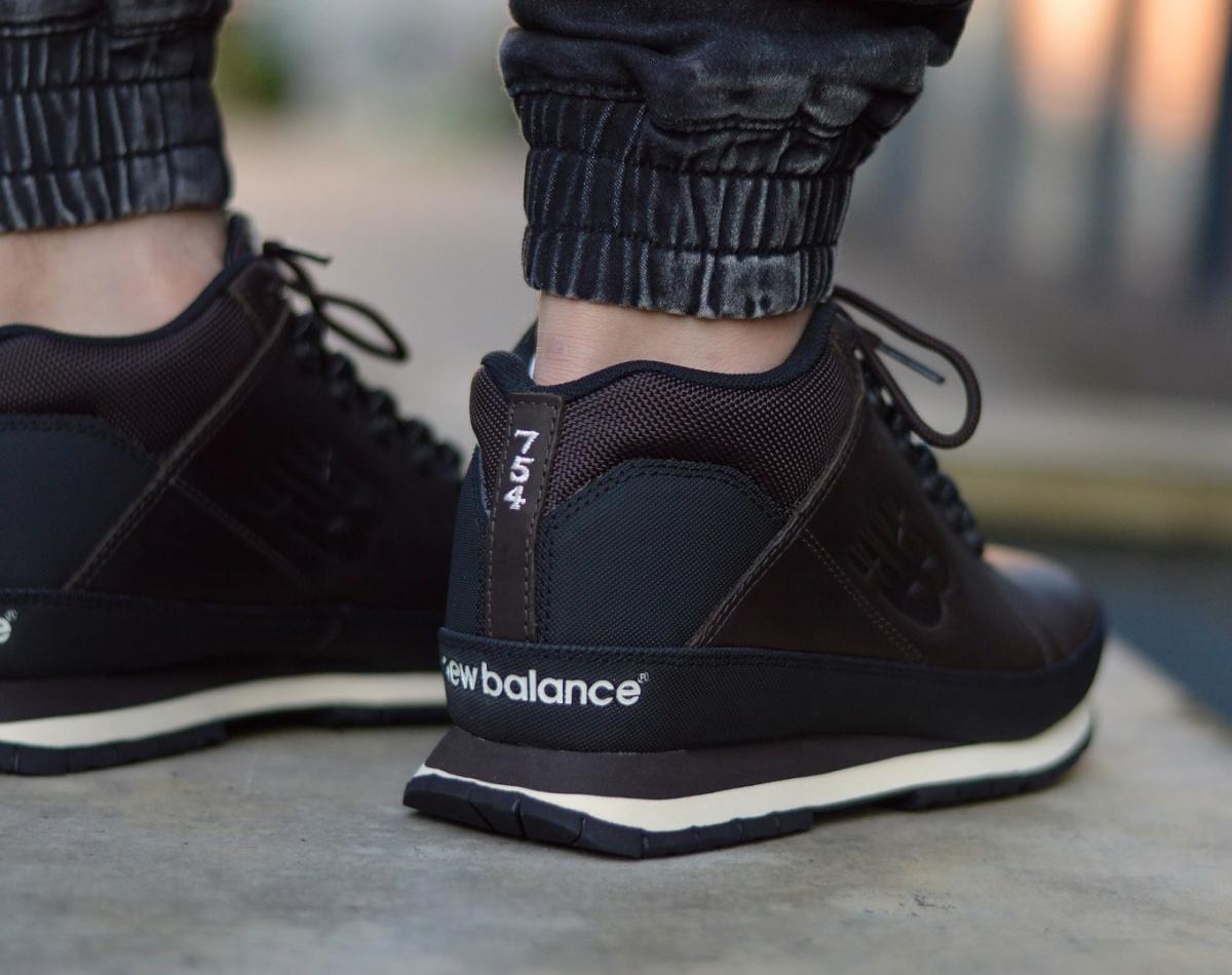 NUEVO BALANCE 754 invierno invierno zapatos para hombre zapatos zapatillas de cuero HL754BN